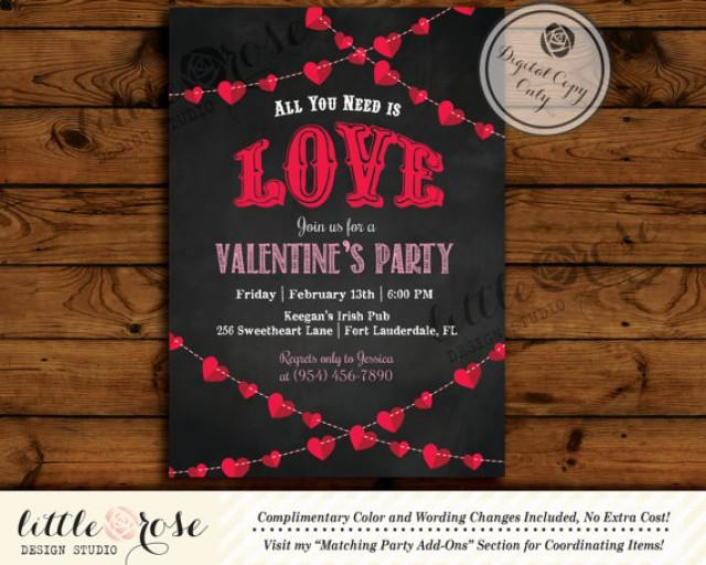 Valentine's Party Invitation - Valentine's Day Card - Mother's Day ...