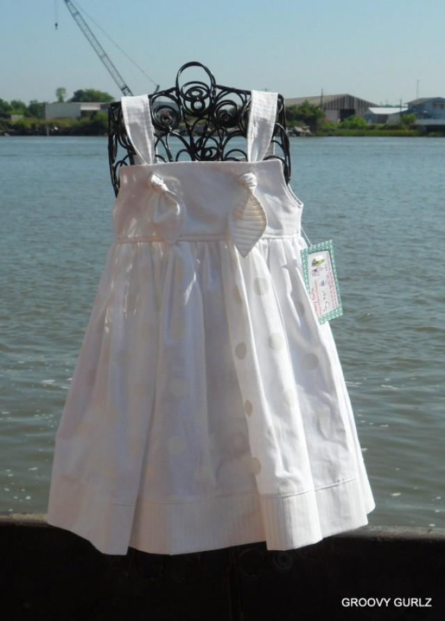 Girls knot dress infant toddler girl dress beach wedding for Flower girl dress for beach wedding