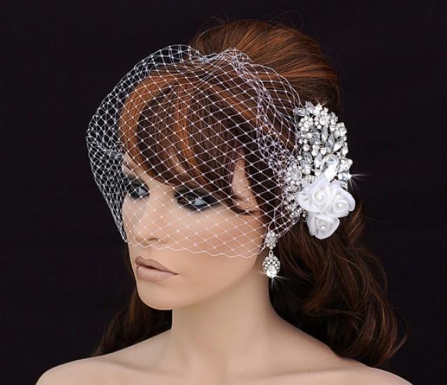 Birdcage Veil And Comb Bird Cage Veil Blusher Bridal Comb Wedding Comb Bridal Hair