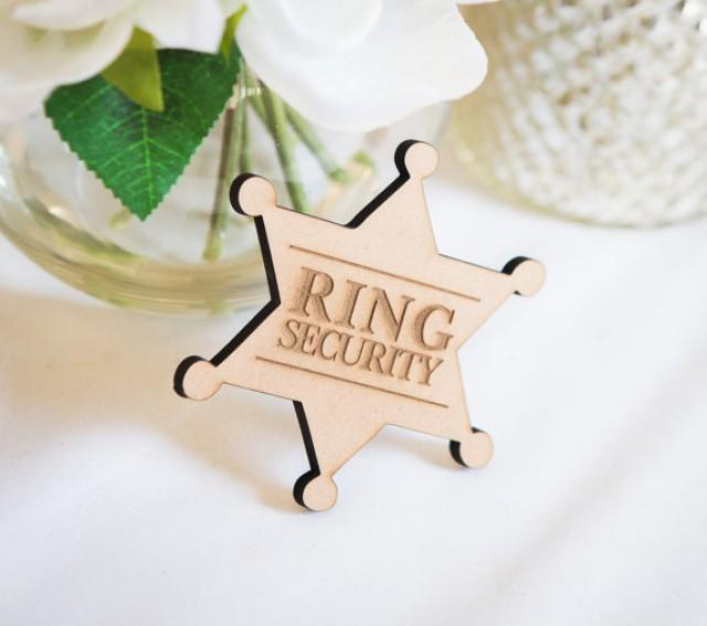 Wedding Gifts For Ring Bearer : Bearer Gift Ring Security Badge Pin For Ring Bearer At WeddingRing ...
