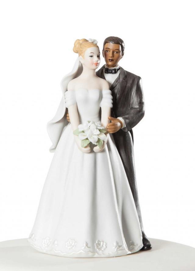 elegant interracial wedding cake topper custom painted hair color available 2216417 weddbook. Black Bedroom Furniture Sets. Home Design Ideas