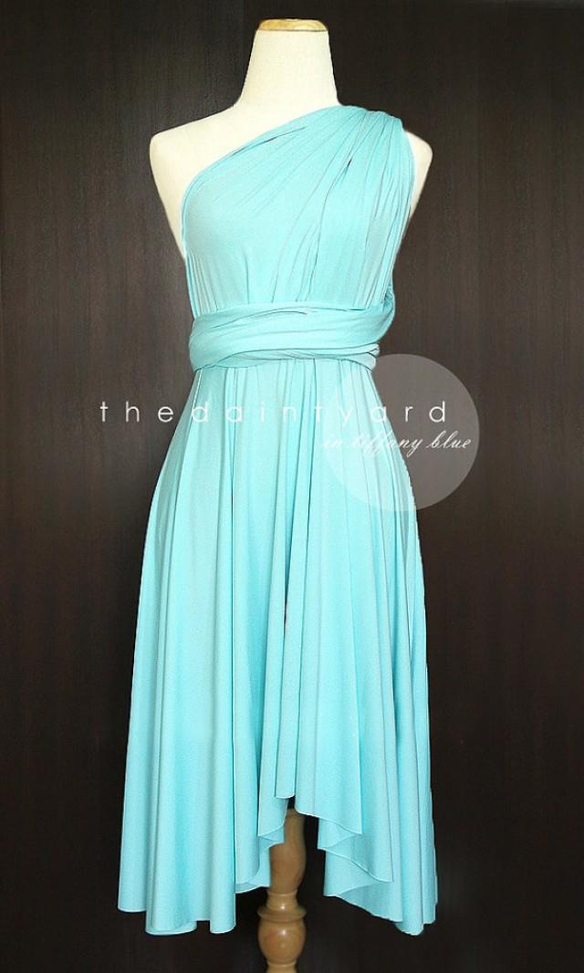 Tiffany blue bridesmaid convertible dress infinity dress for Wedding dresses with tiffany blue