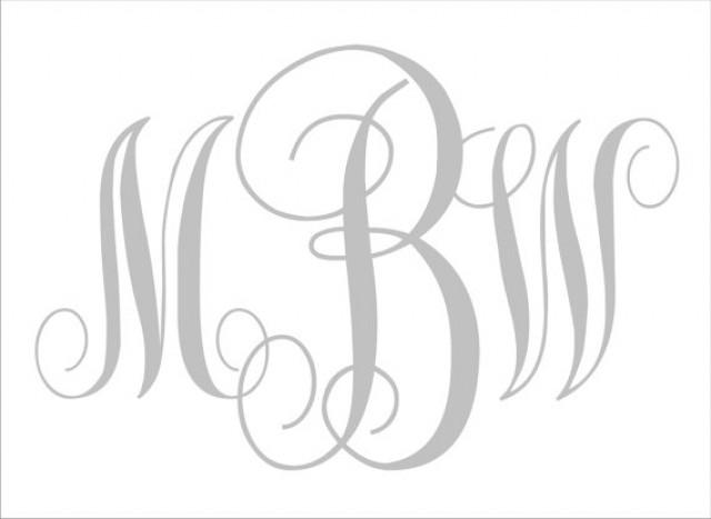 Diy Wedding Signs Stencils Custom Monogram Center Letter Large 15