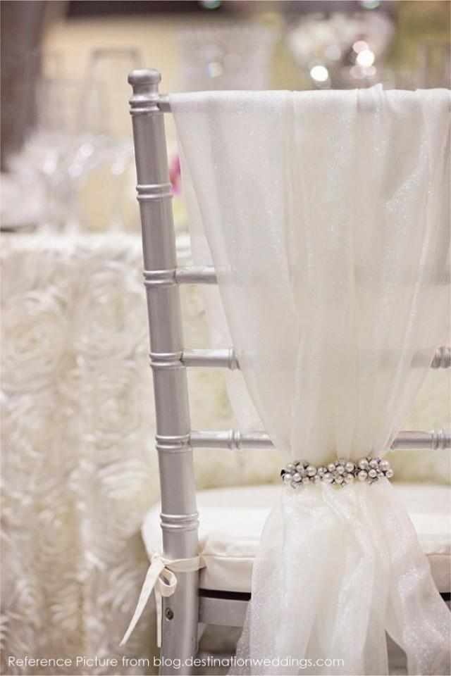 Bridal Chair Organza Sash MADE TO ORDER Bride and Groom Wedding Chiavari Chair Decor for Bridal Shower Sweet Table Wedding Reception Event & Wedding Ideas - Chair-sash #2 - Weddbook