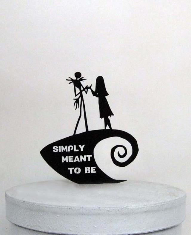 Wedding Cake Topper The Nightmare Before Christmas With