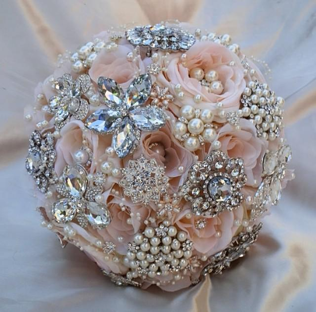 Bridal Bouquet Brooches : Pink brooch bouquet deposit for this bridal