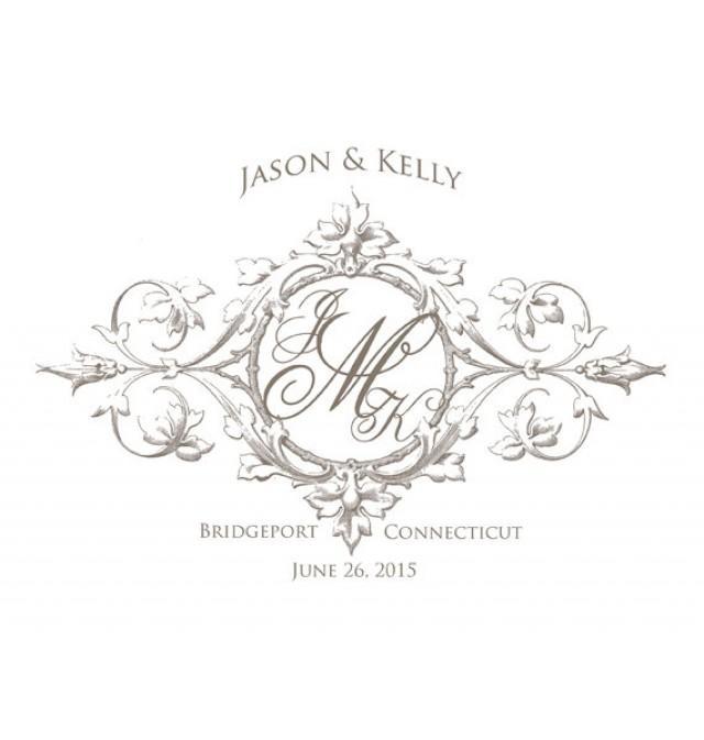 wedding monogram crest custom created in your wedding