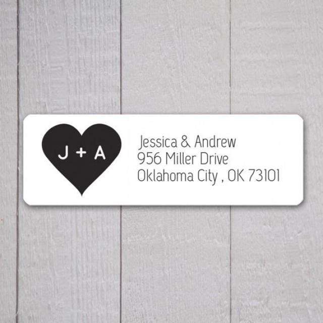 Wedding invitation return address labels wedding stickers for Return address on wedding invitations wording