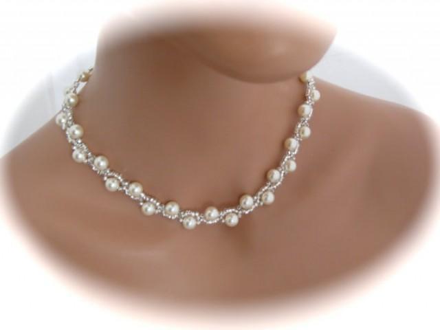 Ivory Pearl Bridal Necklace Wedding Jewelry Swarovski. Personalised Necklace. Army Necklace. 18k Necklace. V Neck Necklace. Amazonian Necklace. Deer Necklace. Elk Ivory Necklace. Dil Necklace