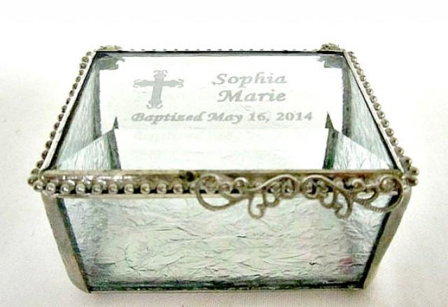 Glass Wedding Gift Box : ... Gift, Christening Gift, Confirmation Gift, Wedding Ring Box #2219753