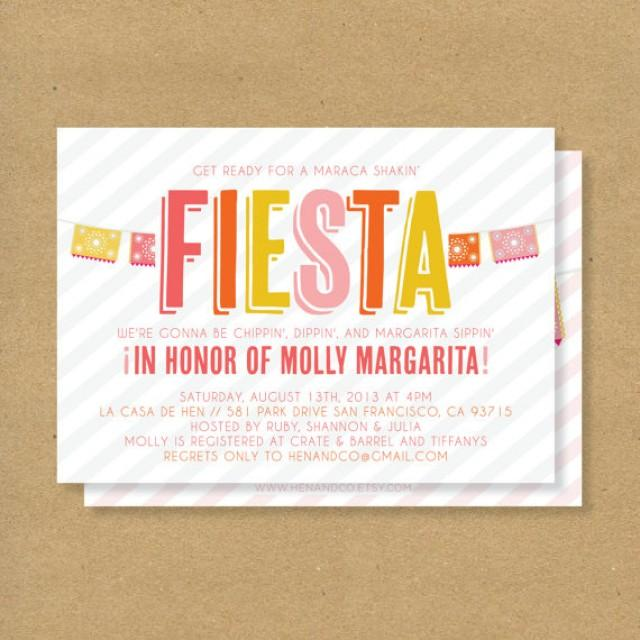 Fiesta invitation printable mexican flags stripes - Fiesta baby shower ...