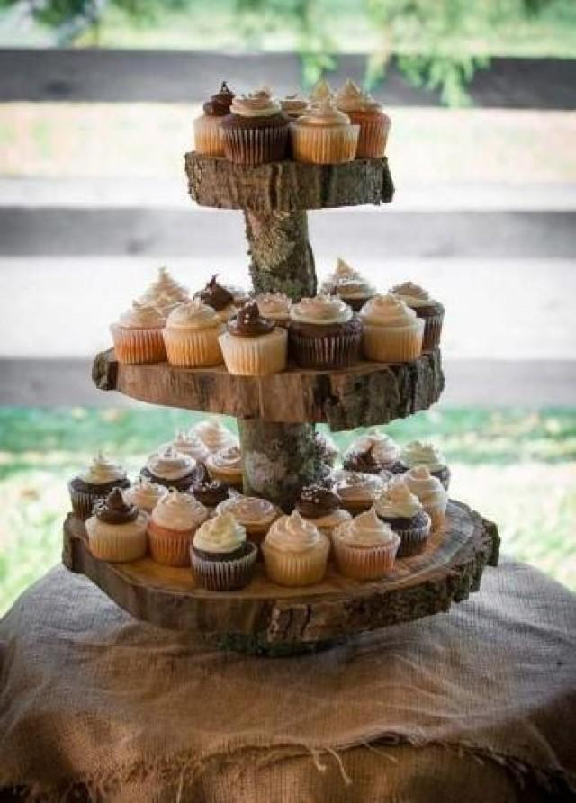 Rustic Cupcake Stand 2 Tier Wedding