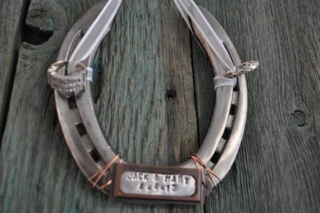 Ring Bearer Horseshoe Western Weddings Custom Ring