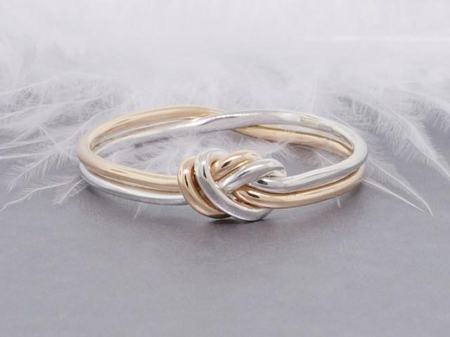 love knot ring gold and silver ring promise ring