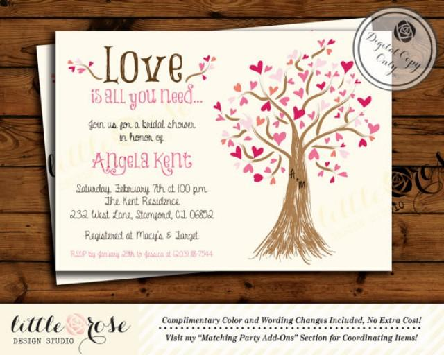 When Do You Send Invitations For A Wedding: Bridal Shower Invitation
