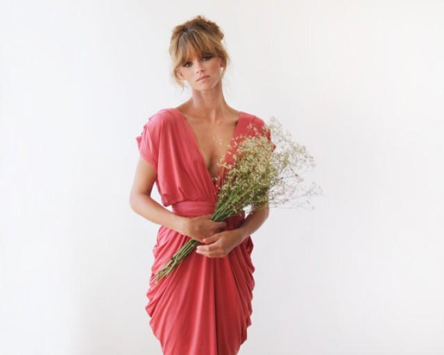 Coral Dress , Party Dress , Bridesmaids Dresses , Engagement Party ...