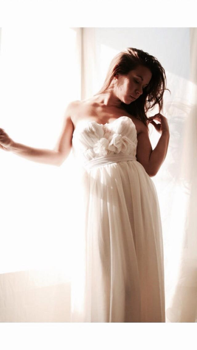Wedding Dress Bustier Wedding Gown Chiffon Lace In The Month Of July Gown 2220927