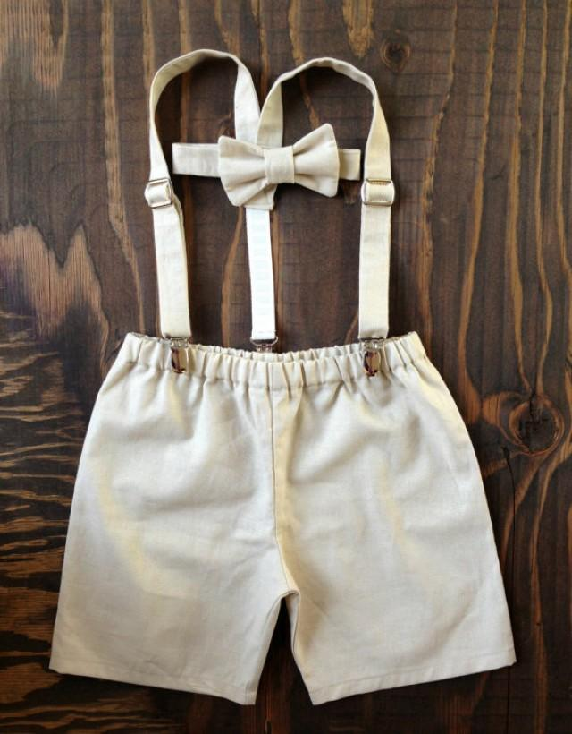 Ring Bearer, Boys Outfit, Suspenders Set, Baby Boy Suit ...