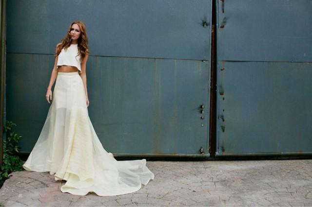 Simple Wedding Dresses Houston: 10 Sensational Crop Top Wedding Dresses