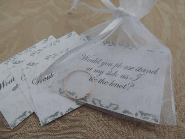 The Knot Wedding Gift List : Tie The Knot Ring - Cute Knot Ring - Bridal Party Inviation Gift - Ask ...