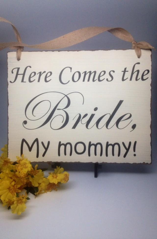 wedding sign flower girl sign ring bearer sign wedding photo prop here comes the bride my. Black Bedroom Furniture Sets. Home Design Ideas
