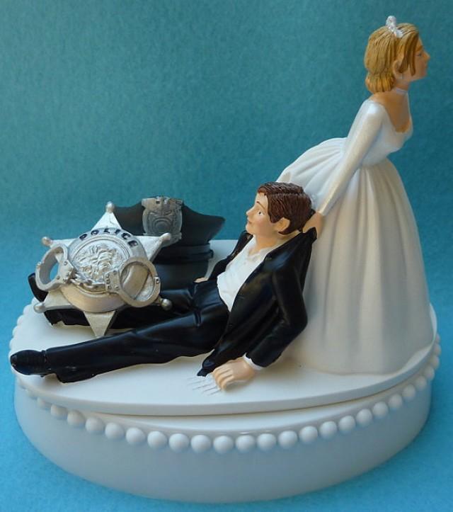 Funny Police Wedding Cake Topper