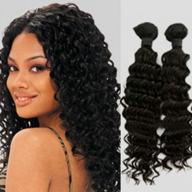 Hair Extension High Quality 100 Real Human Hair 26 Inch Deep Curly