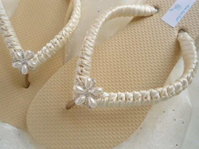 85531bd8e Ivory Bridal Flip Flops