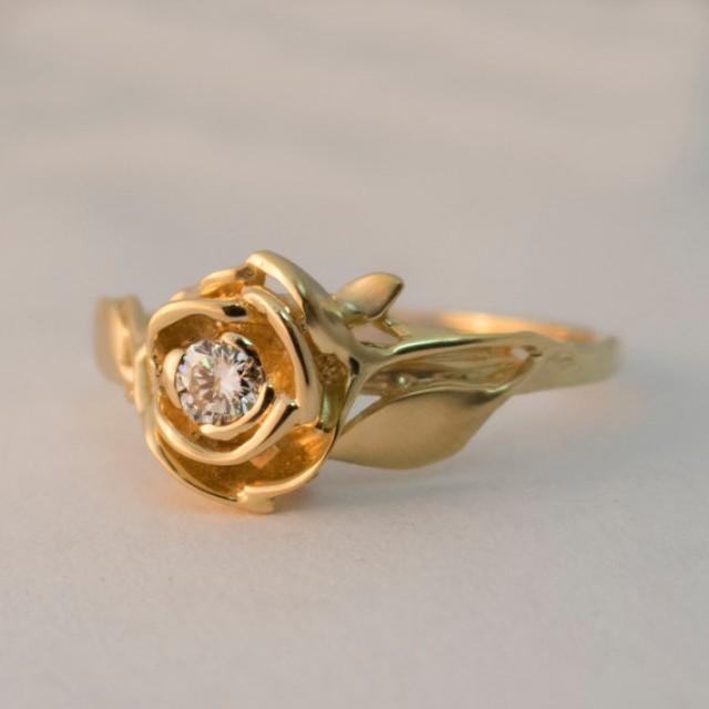 Raw Diamond Rings Rose Gold