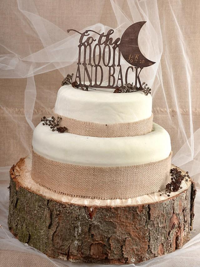 Simple Wedding Cake Ideas Monogram