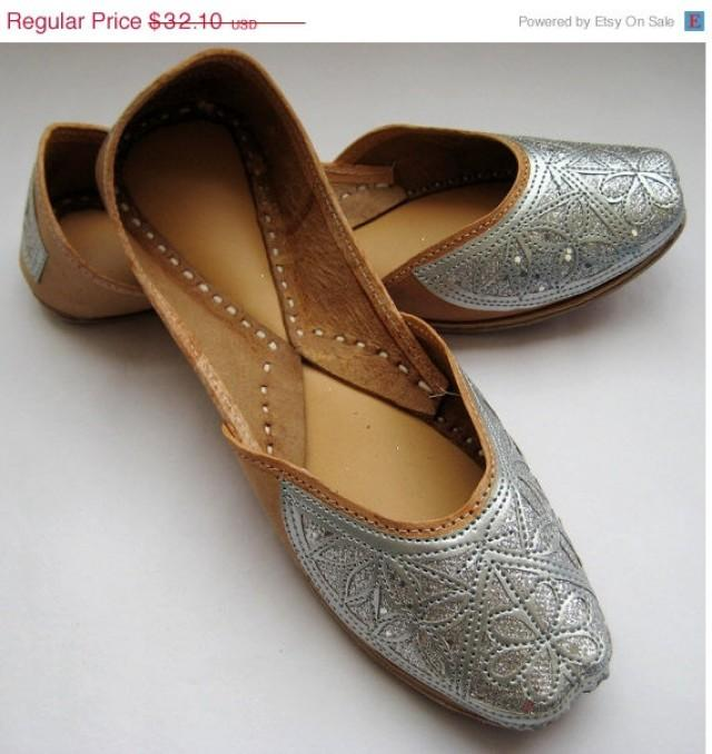 Valentine Day 20 Silver Sequin Bridal Ballet Flats Wedding Shoes Handmade Indian Designer Women Or Slippers Maharaja Style Wom 2223090
