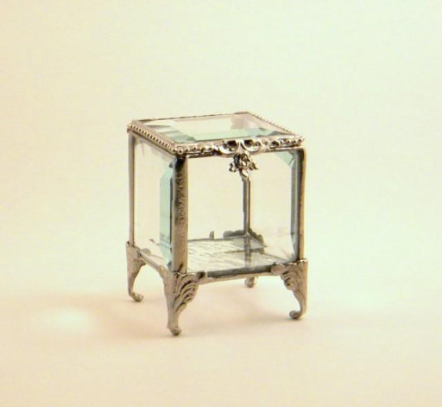 Alternative Silver Wedding Gifts : Box, Glass Box, Ring Pillow Alternative, Bridesmaids Gift, Gift ...