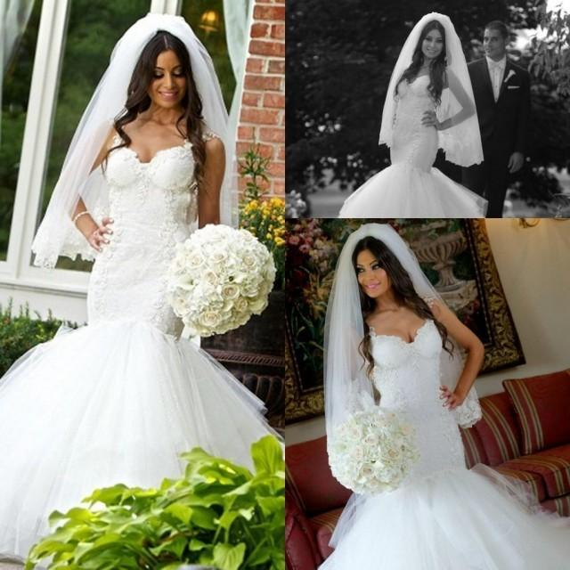 2015 vintage mermaid wedding dresses lace appliques for Backless wedding dresses online