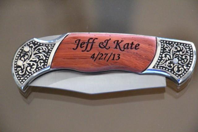 Wedding Gift Pocket Knives : Engraved Knife, Groomsmen Gifts, Wedding Favor,Folding Pocket Knife ...