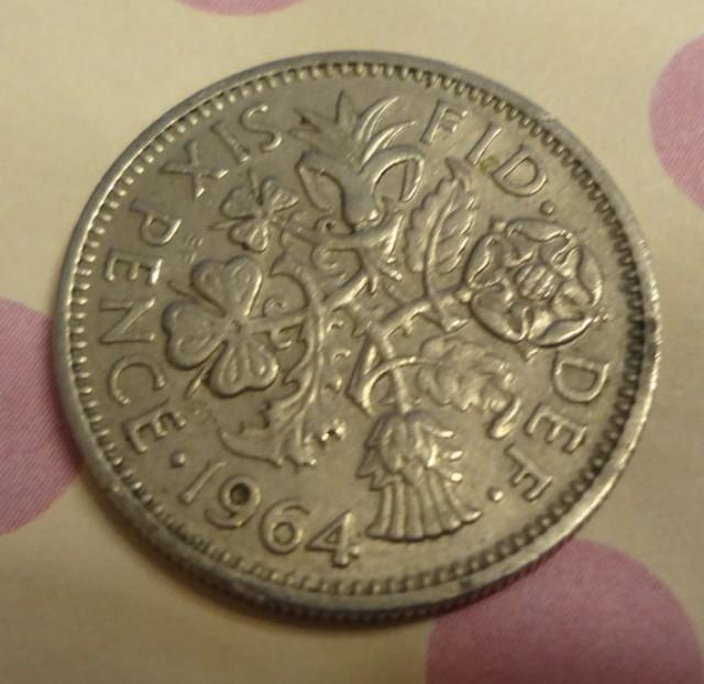 Wedding Lucky Silver Sixpence Bride's