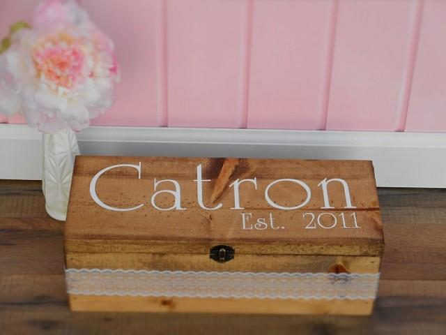 Wooden Wine Box Wedding Gift : Wine Box Wedding Wine Box Wood Wine Box Wine Gift Box Christmas Gift ...