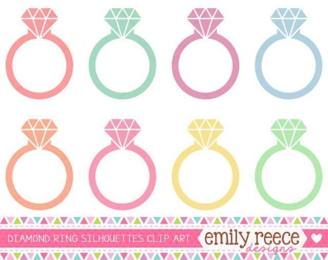 DOLLAR SALE Diamond Ring Engagement Silhouette Diamond ...