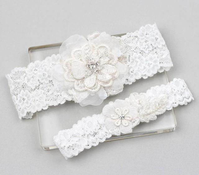 Wedding Garter Set, Bridal Garter Set