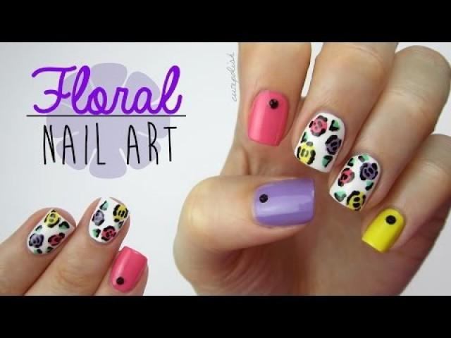 Colorful Floral Nails Using A Toothpick 2224145 Weddbook