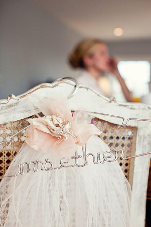 Wedding hanger bridal hanger personalized hanger the for Personalized wire wedding dress hanger