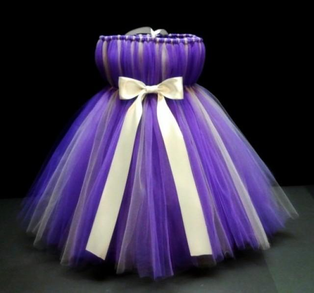 Purple And Silver Tutu Dress Baby Infant Flower Girls Available In Size 0 24 Months 2224780
