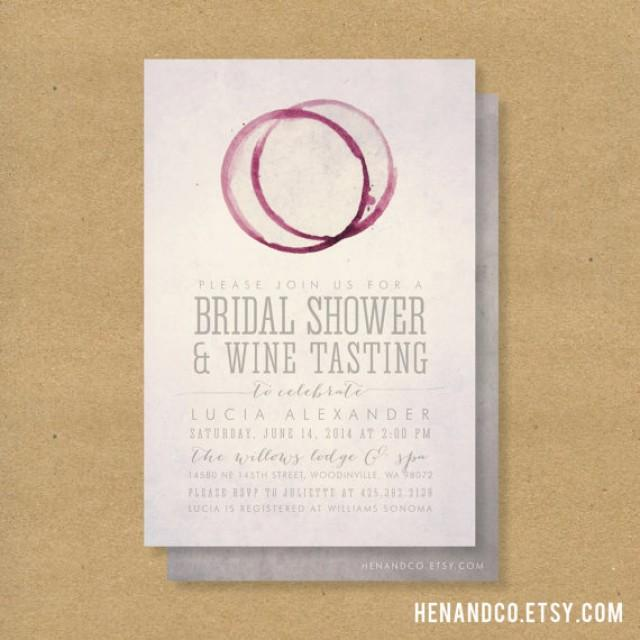 WINE TASTING Bridal Shower Invitation - Printable - Winery Or Wine ...