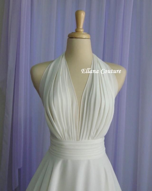 Liliana retro inspired tea length wedding dress for Vintage t length wedding dresses