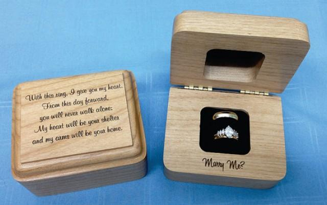 Wedding ring box engagement ring box wooden ring box for Cute engagement ring boxes