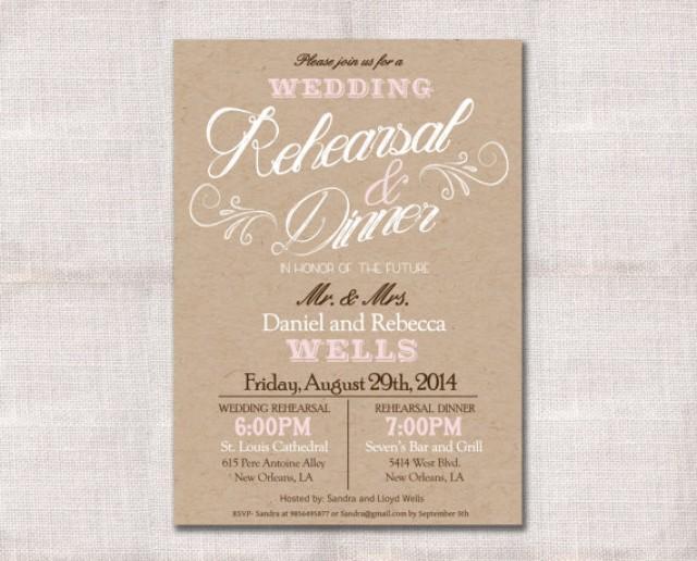 Wedding Rehearsal Dinner Invitation Custom Printable 5x7 2226648