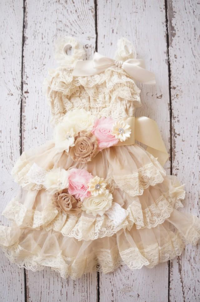 Flower Girl Dress Lace Flower Girl Dress Baby Lace