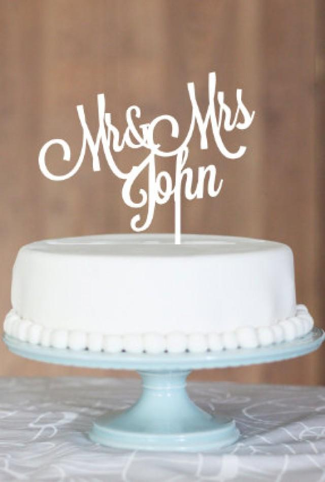 Custom Cake Topper Engagement Cake Wedding Cake Topper Cake Topper Name Cake Topper Mr And