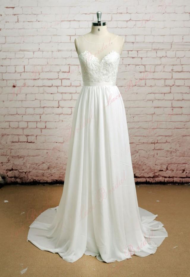 Backless wedding dress sexy wedding dress lace chiffon for Wedding dress with waistband