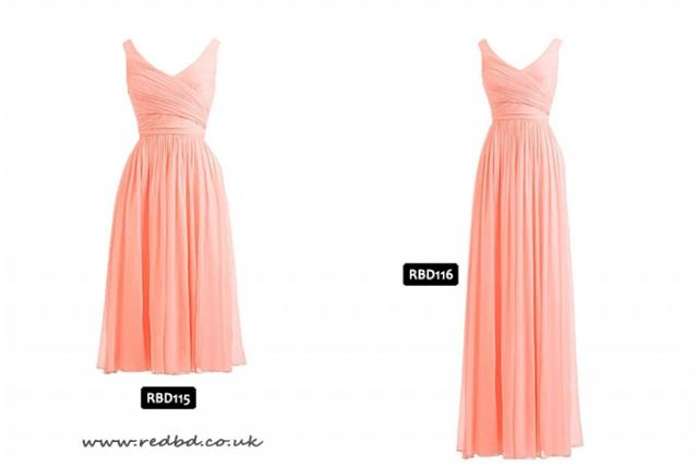 wedding photo - Coral Bridesmaids Dresses from RedBD