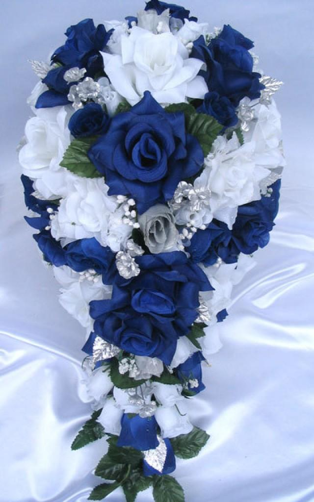 royal blue and silver wedding centerpieces%0A fall wedding flowers blue  Google Search   I do    Pinterest   Fall wedding  flowers  Flower and Weddings